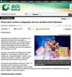 O Cavalinho Azul - BOL Notícias (TEATRO ARTHUR AZEVEDO)