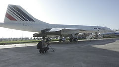 Filming Concorde at Toulouse Aeroscopia