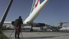 Filming Concorde at Toulouse Aeroscopia