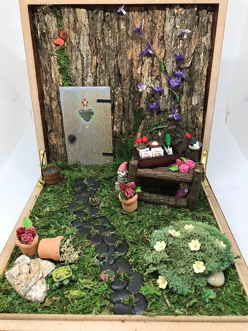 Cigar Box Fairy Garden
