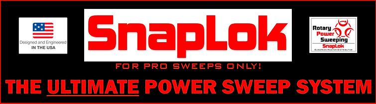 Snaplok rotary power sweeping