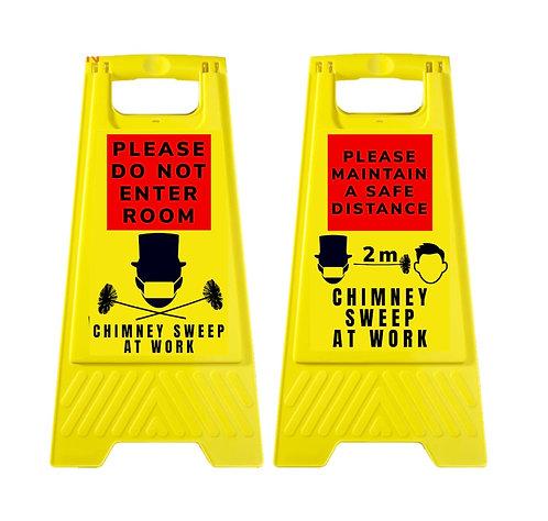Warning Hazard Sign Chimney Sweep Covid