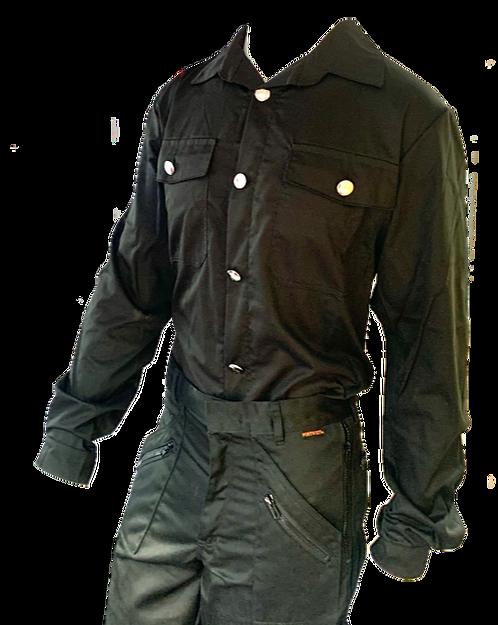 Chimney Sweep Shirt - Long Sleeved Black Smart