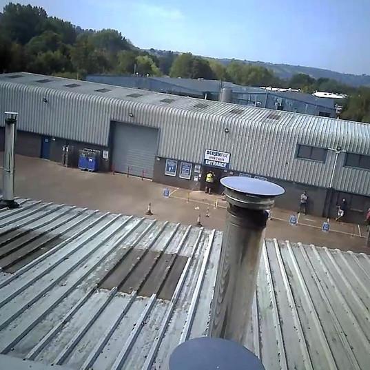 Twinwall on an industrial unit