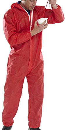 Click Once Disposable Coverall - Red