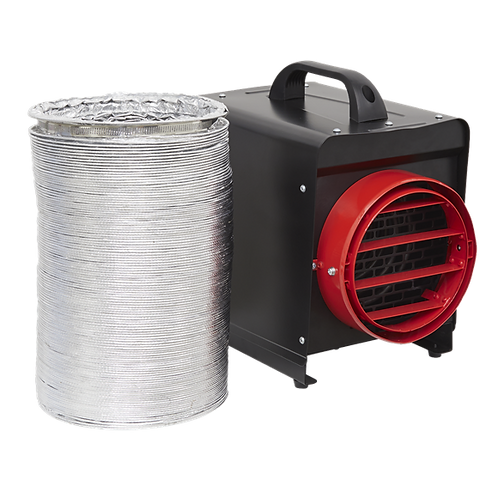 Sealey 3KW Electric Fan Heater (240V) with Ducting