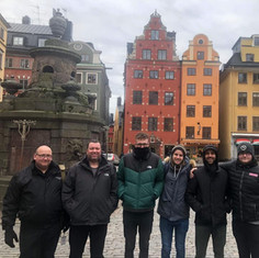 UK Sweeps in Stockholm in the cold