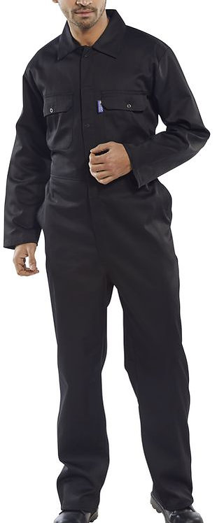 RPS Black Lightweight Coveralls - Elasticated Cuff