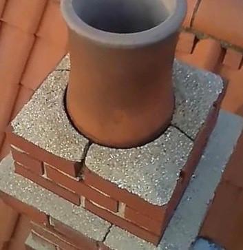 Chimney pot flaunching