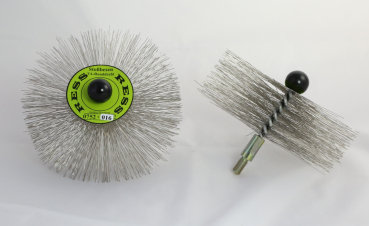 RESS Crimped Stainless Steel Brush, M10 threaded - Medium - 250mm