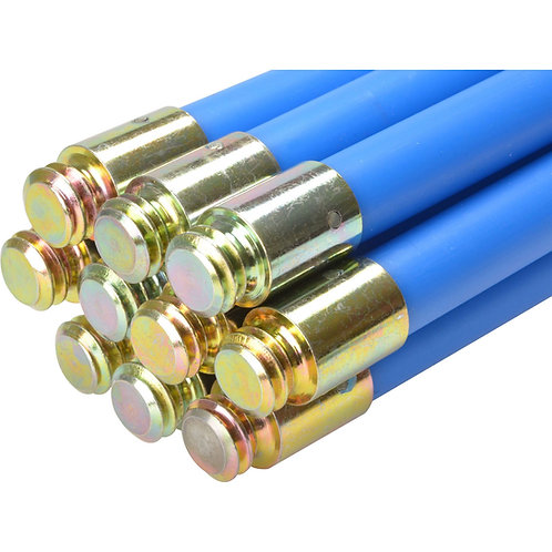 "Blue Bailey Rod - 1"" x 4ft Chimney Rods Sweep Brushes Bailey blue rods Flue Brushes Flexible Chimney Rods Super Flexi"