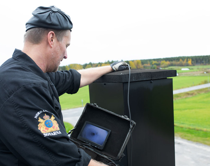 Swedish Master Sweep carrying out CCTV inspection