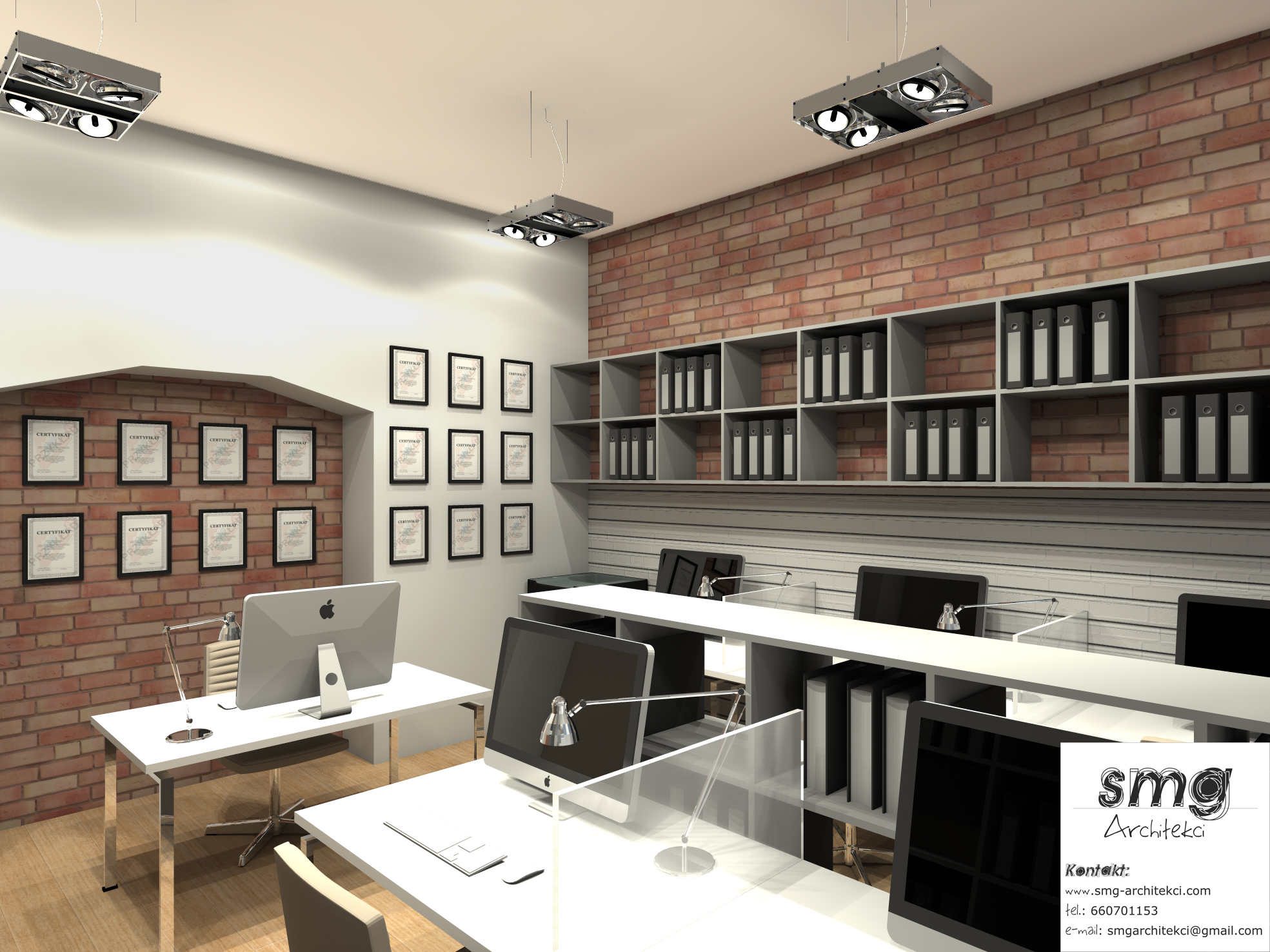 Wnętrze Pokoju biurowego- Szczecin