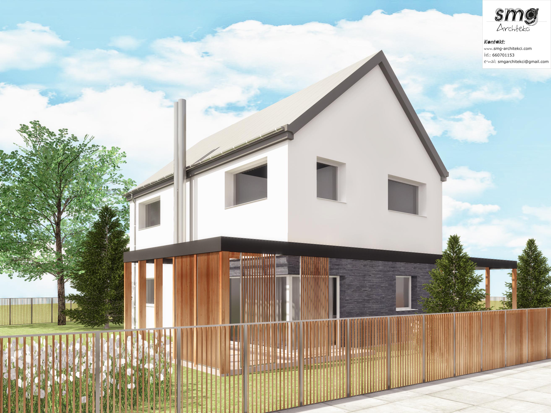 przebudowa, rozbudowa domu w Podjuchach 4