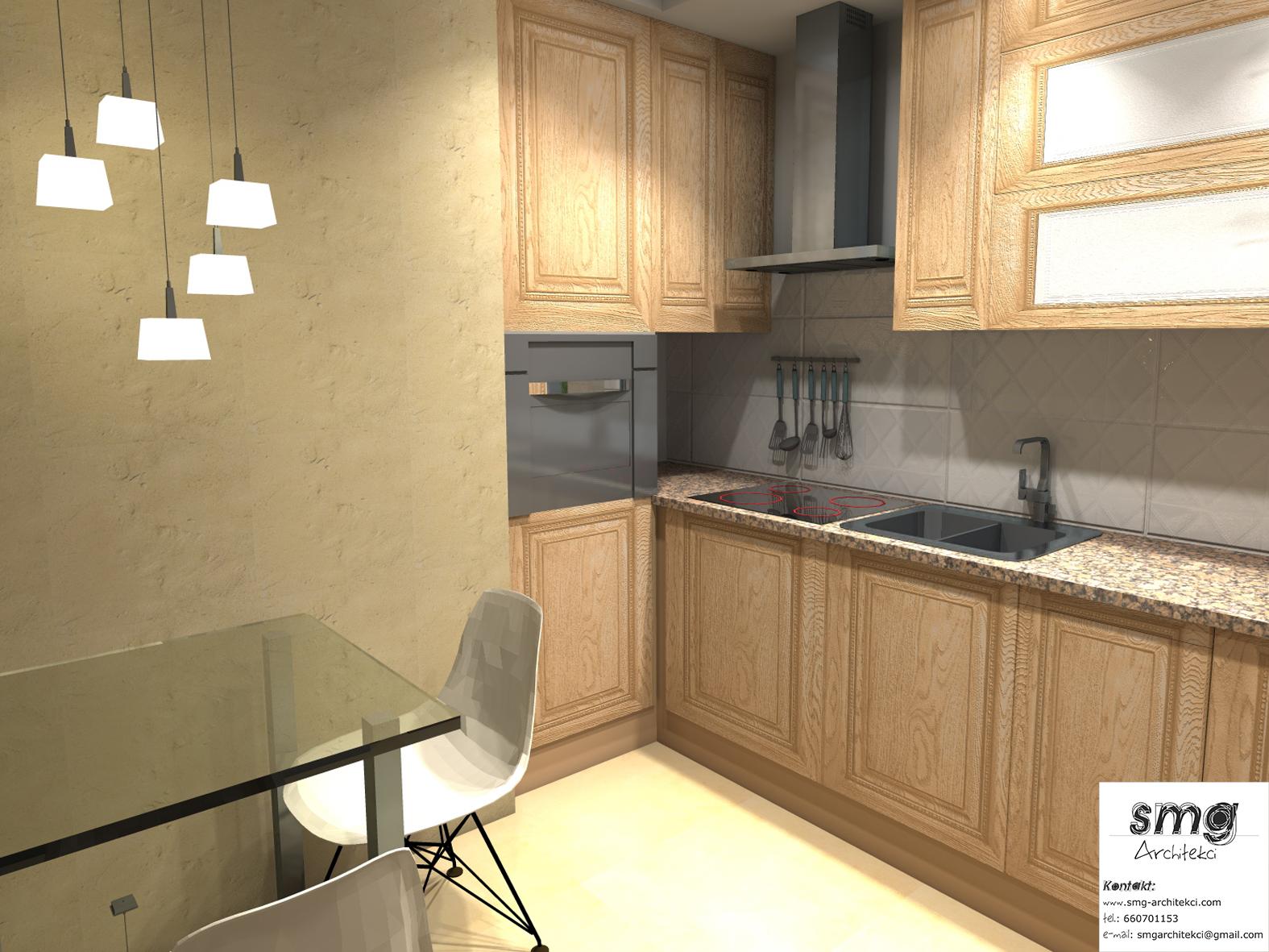 Wnętrze Kuchni w mieszkaniu- Szczeci