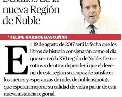 DESAFÍOS DE LA NUEVA REGIÓN DE ÑUBLE