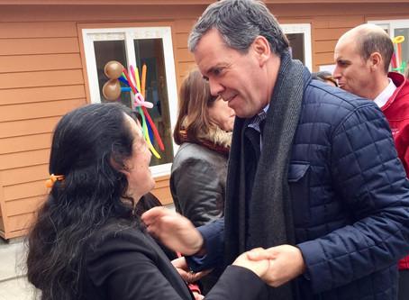 Senador Harboe participa en entrega de viviendas en Condominio Schleyer
