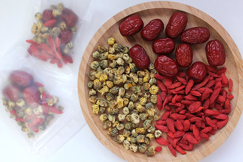 Dried Baby Chrysanthemum with Goji Berries and Red Dates Tea