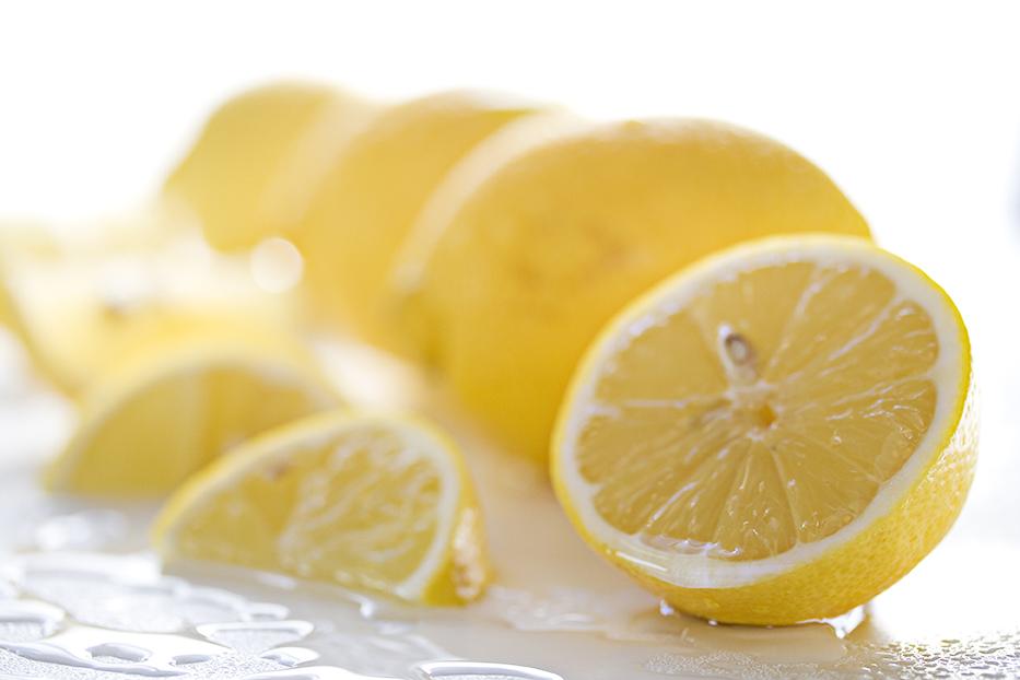 Zitronen gewaschen