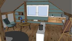 Visualisierung Hobbyraum