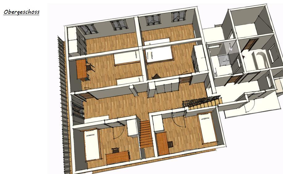 3D-Planung Obergeschoss