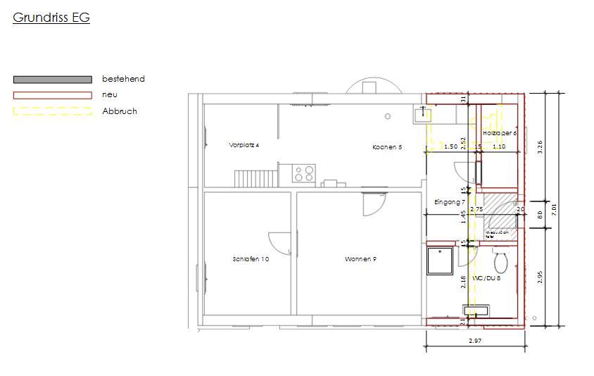 Pläne für Baueingabe