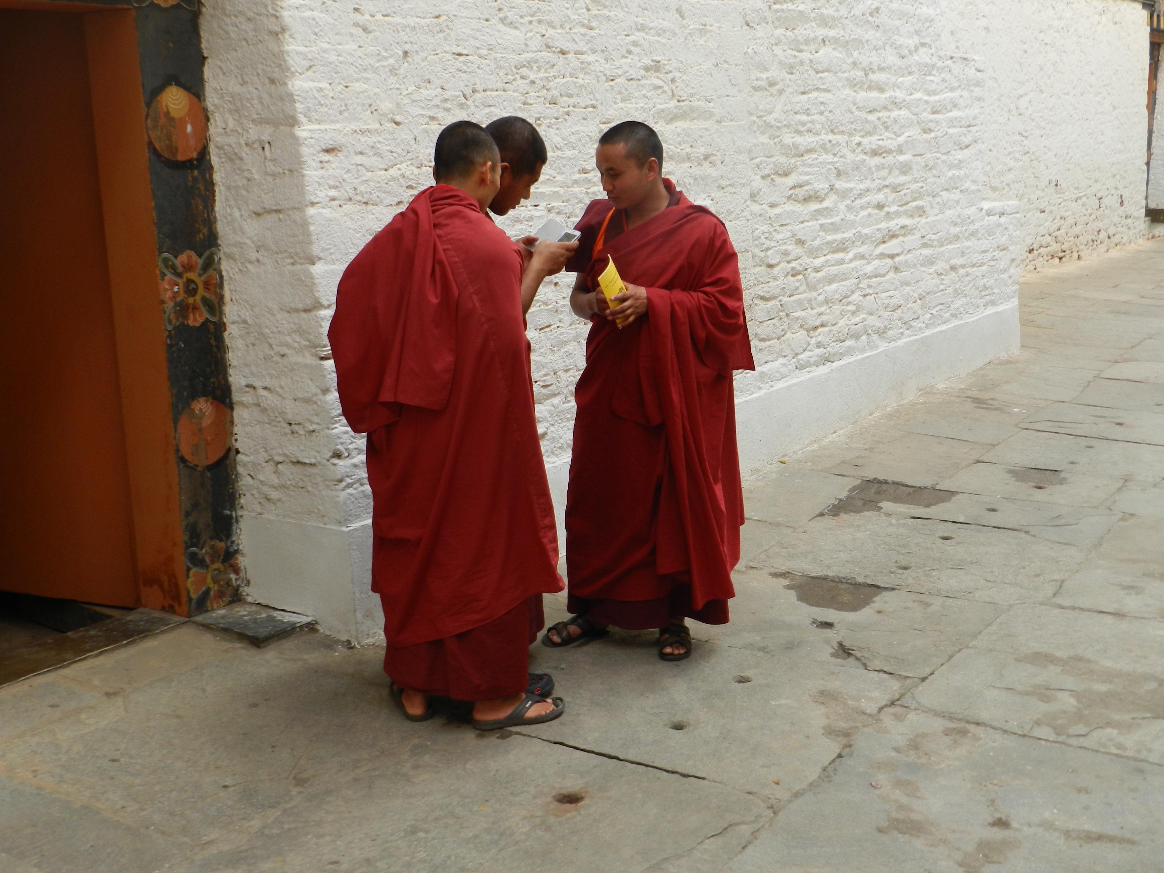 Bhutan checking the form.JPG