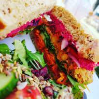 Rainbow Falafel Sandwich