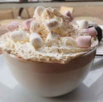 Hot Chocolate with Cream and Marshmellows