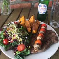 Healthy Steak Dinner and Beer