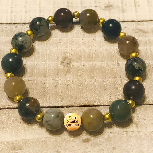 Indian Agate +Gold Accents