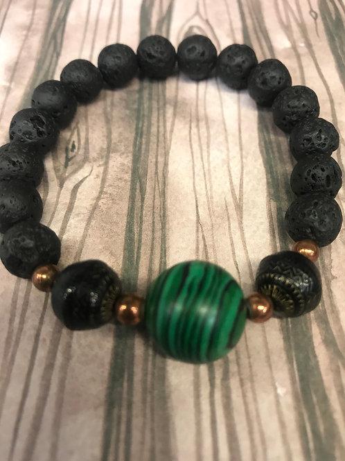 Malachite + Lava Stone
