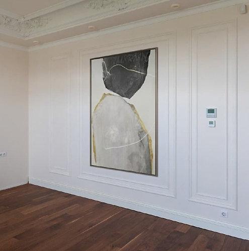 Картина «White Transparency Fondness» в галерейной раме