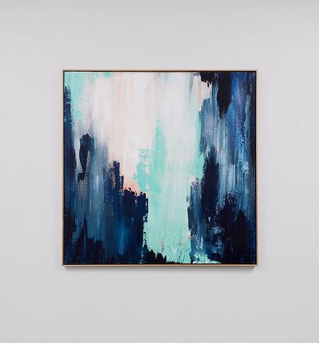 "Картина ""Abstract art blue 010"""