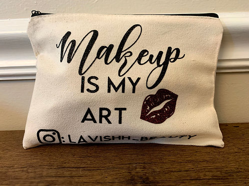 Custom Canvas Zippered Pouch