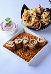 Masala Kebab with Chur-Chur Naan
