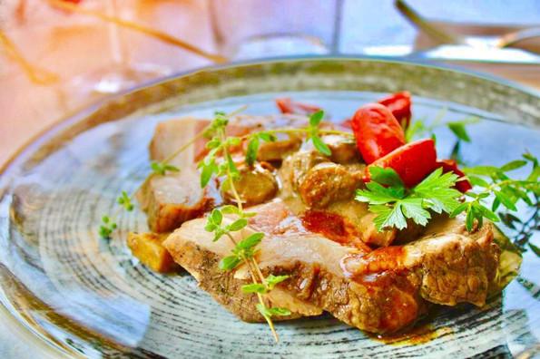 Picana di vitello speziata al curry, con