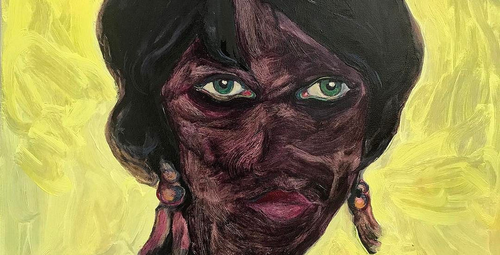 DeadCoral, 2017. Oil on canvas. 80x80cm.