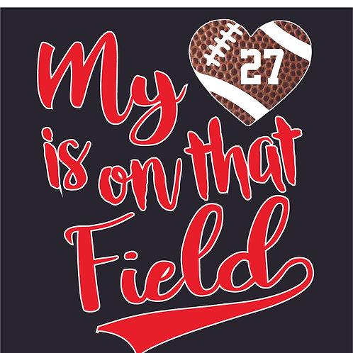 Design #1818 My Heart Football