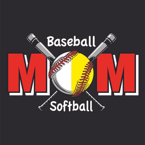 #1532 Baseball Softball Mom
