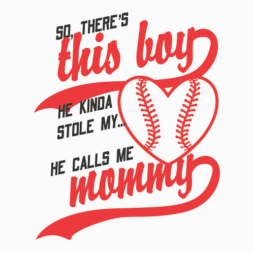 #1535 This Boy Baseball Heart