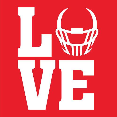 Design #1824 Big LOVE Helmet