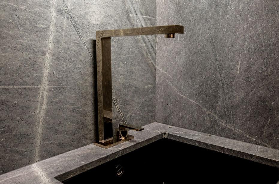 22-carat gold kitchen tap