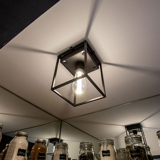 Buster + Punch Caged Ceiling Light with dimmable bulb