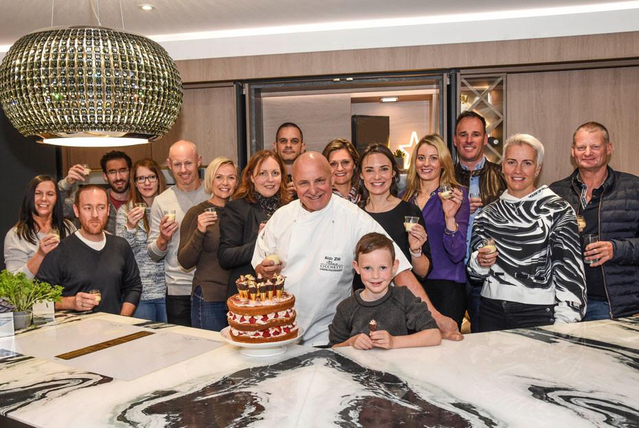 Award-winning celebrity TV chef Aldo Zilli at the Kuche & Bagno Showroom