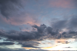 after sunset clouds wall decor