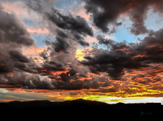 sunset in rockies wall decor
