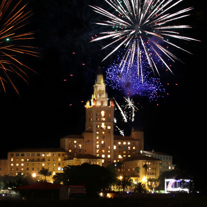 New Year's Eve Biltmore Hotel Fireworks