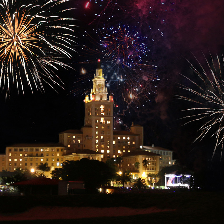 New Year's Fireworks The Biltmore Hotel