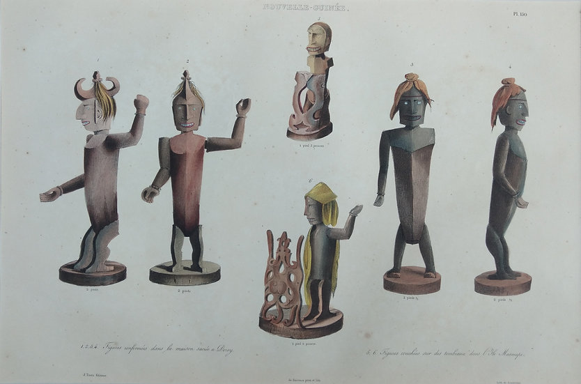 Figures - Original Hand Coloured French Lithograph C. 1835